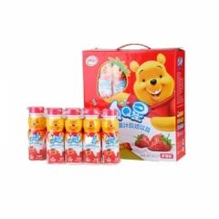 伊利QQ星儿童成长牛奶 200ml*4瓶 营养果汁酸奶小熊维尼草莓味儿童成长牛奶