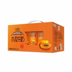 伊利味可滋--木瓜牛奶240ML*12盒 买一箱(送一包伊利纯牛奶日期15天内)