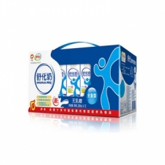 伊利舒化全脂纯牛奶250ml*12盒 买一箱送一包伊利纯牛奶(日期15天内)
