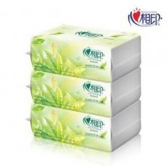 心相印茶语经典系列200抽三层塑装面巾纸 DT3200 抽纸