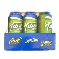 山水啤酒淡爽8度(8°P)500ml*9罐/组