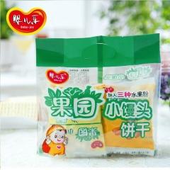 婴儿乐水果奶豆果园小馒头婴幼儿辅食零食品宝宝磨牙饼干婴儿营养 240