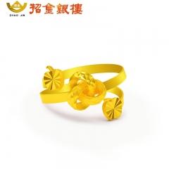 新款时尚平安结足金戒指 5.5g