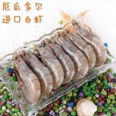 厄瓜多尔虾  (2公斤 6盒/箱)  30~40头1公斤