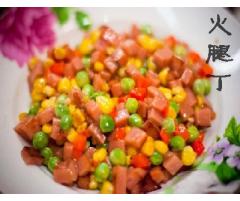 龙大冻团餐火腿丁  1kg/袋*5袋/箱     17.4元/袋