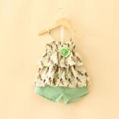 童装2016夏装新款 女童绿野仙踪吊带+短裤两件套装 绿野仙踪 7码