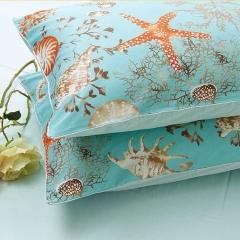 外贸美式贡缎埃及长绒棉 田园系列复古系列 床上用品信封枕 枕头套 清仓