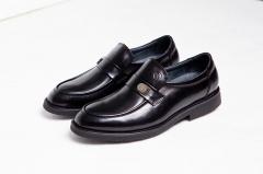 B522NL恩来得多功能保健男鞋 高端男鞋黑色棕色 纯手工定制 黑色 39