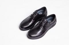 B822NL恩来得多功能健康鞋 高端男鞋 透气 牛皮圆头黑色棕色 黑色 39