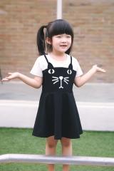 轩辰制衣      大码女装夏装新款胖mm加肥加大码卡通连衣裙 小孩 XL