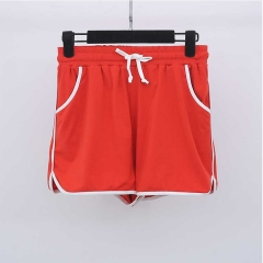 轩辰制衣   大码女装胖mm加肥加大码运动休闲短裤热裤子 红色 XL