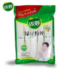 双塔食品山东龙口粉丝 纯绿豆粉丝270g方便水晶粉细粉条  2袋*270