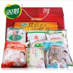 双塔食品       山东特产龙口粉丝礼盒装1.58kg 酸辣粉条方便食品