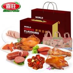 喜旺世界美食 香酥鸡 焖香鸭 牛尾 烤肠 肉排 火腿