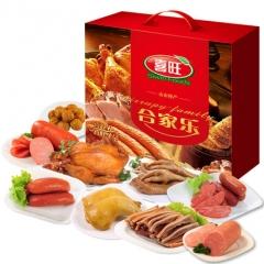 喜旺合家乐 礼盒 陈香鸡 猪耳朵 鸡腿 火腿 香肠 肉丸子 嫩肠 鸡爪凤爪
