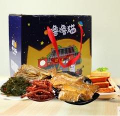 新海噜噜猫海鲜零食大礼包鱿鱼丝鱼虾干烤鱼片即食组合礼盒 A款1264g