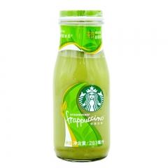 星巴克281ml抹茶星冰乐奶茶饮料玻璃瓶装12入纸托缩膜装 3瓶