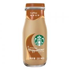 星巴克281ml星冰乐咖啡味咖啡饮料瓶装十二入装纸托缩膜 3瓶