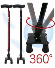 全碳四点式手杖