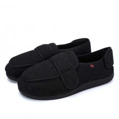 AOIREMON护理鞋 65%羊毛材质 男女通用 双重康复鞋老年人黑色