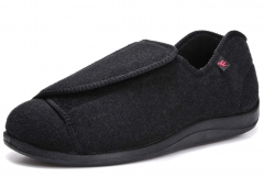 D. IIZOO 轻便舒适护理鞋 柔软易走 时尚黑色