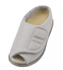 开口网眼护理鞋 灰白