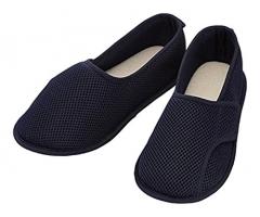 粘扣设计护理鞋 常规海军蓝 蓝色 码数留言