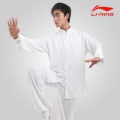 白色 李宁男式太极服春秋装