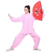 武印象新品棉加丝短袖太极服 男女太极拳练功服装