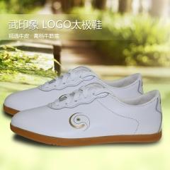 新品武印象LOGO牛皮太极鞋