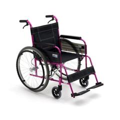 三贵Miki手动轮椅车 M-43K 超轻铝合金折叠残疾人代步轮椅