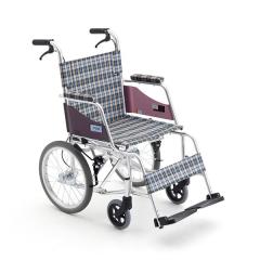 三贵MiKi轮椅车MOCC-43L 免充气胎 轻便铝合金 小轮折叠 便携