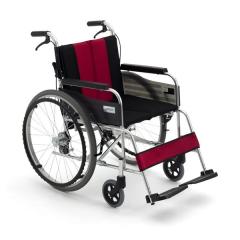 三贵miki轮椅MUT-43JD 航钛铝合金 可拆卸座背垫 轻便折叠
