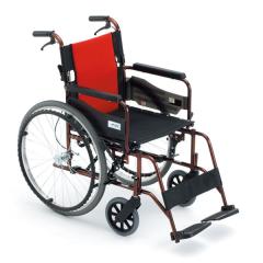 三贵航钛铝合金老人MIKI轮椅24寸轻便折叠加高MCV-49JL