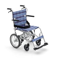 Miki三贵轮椅车MPTB-43JUS航钛铝合金轻便折叠配专用包老年人代步
