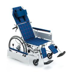 """三贵MIKI轮椅车三贵MiKi 轮椅车 MSL-T(22"""")型 可全躺 PU不破胎"""