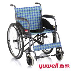鱼跃 轮椅车H050型 家用全钢管加固型可折叠手动轮椅
