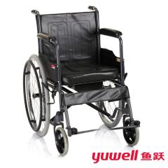 鱼跃 轮椅车H056型 家用铝合金可折叠轻便老人软座手动轮椅车