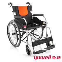 鱼跃轮椅H062C铝合金折叠轻便带折背轮椅老年人残疾人手动轮椅