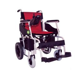 金百合D03电动轮椅老年人残疾人可折叠轻便便携代步车铝合金车架