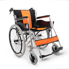辅森轮椅MD107 折叠轻便便携老人手动轮椅 残疾人轮椅车代步车