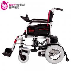 吉芮电动轮椅JRWD501老人残疾人代步车电机折叠轻便 买就送打气筒