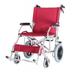 达洋休闲铝合金轻便小轮椅 老人轮椅 手动折叠式轮椅DY01863LABJ