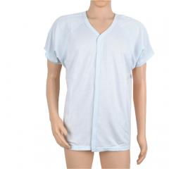 山海康(SHANHAIKANG) 康复睡衣 秋季薄款短袖易穿脱上衣卧床护理服