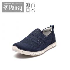 Pansy中老年老人妈妈春夏新款网面女运动鞋休闲鞋HD4427