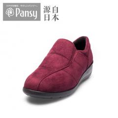 Pansy2018秋中老年老人妈妈舒适女鞋单鞋4740