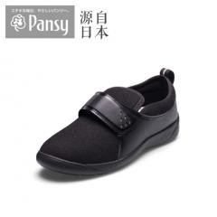 Pansy2018秋季新品高脚背拇外翻软底单鞋中老年妈妈女鞋7801