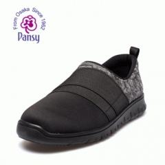 Pansy中老年老人爸爸春秋圆头轻便布面防滑散步休闲鞋HDN1028