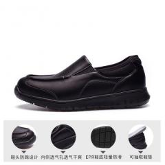 Pansy中老年老人爸爸新款男鞋加宽加肥防滑男士休闲皮鞋AP003