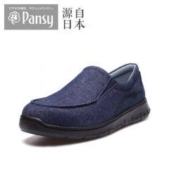 Pansy中老年老人爸爸新款男鞋加宽加肥防滑男士休闲鞋AP001